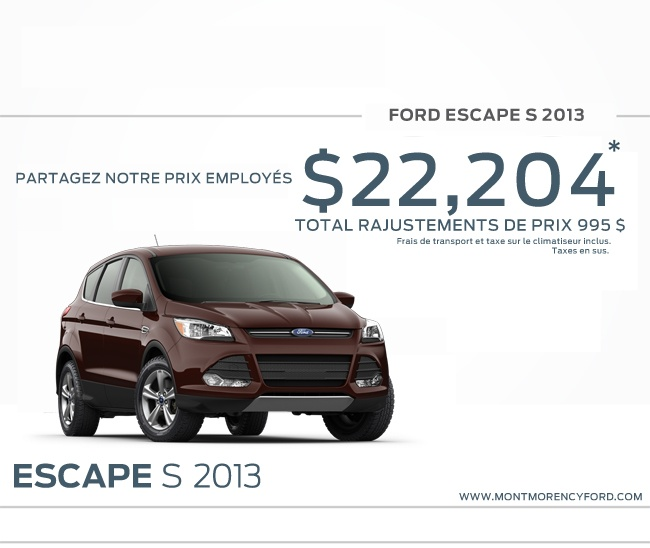 Ford Escape S 2013, concessionnaire Ford à Brossard